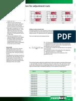 07598 Technical Information for Adjusting Nuts En
