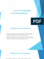 Features of Timeshare Accommodation