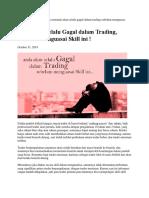 Skill Menunggu Biar Sukses Tradingnya