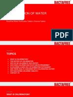 Chlorination Of Drinking Water  - Bactafree Chlorine Tablets