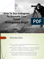 How to Use Instagram to Promote Your Travel Photography Blogs