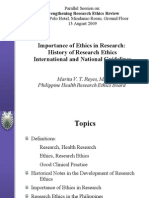 Presentation Importance and History of Research Ethics