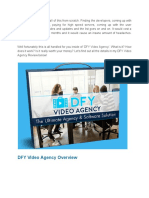 DFY Video Agency Resellers License - Google Docs