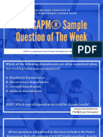 Free CAPM Sample Question of the Week