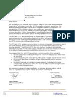 PFA Letter