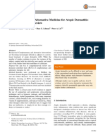 Complementary and Alternative Interventions in Atopic Dermatitis Evidence Based Review