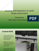 Building and Equipment on Earth Quake Assessment