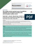 The Cardiac Arrest Survival Score - A Predictive Algorithm for in-hospital Morta