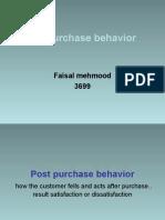 Post Purchase Behavior
