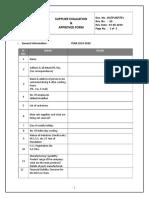 01a.supplier Evaluation Form for Raw Material & Vendor