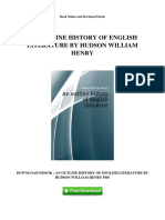 History of English Literature by Hudson