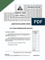 STPM Trials 2009 Chemistry Paper 2 (Johor)