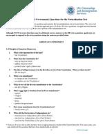 100q American civic questions