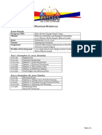 Bidahan 2010 Program Schedule