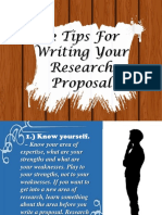 Tips on Making a Research Proposal
