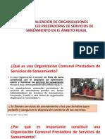 6. Formalización de Las OC (JASS) , Desinfeccion