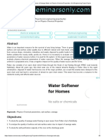 Study on Influence of Sewage Water on Physico Chemical Properties _ Civil Engineering Project Topics