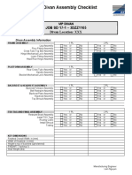 VIP Divan Checklist