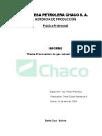 PLANTA PROCESADORA DE GAS NATURAL Y PETROLEO (CHACO S.A.)