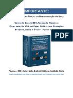 Excel 2016 Avançado macros e VBA - Júlio Battisti