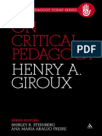 (Critical Pedagogy Today 1) Henry A. Giroux - On Critical Pedagogy-Continuum (2011).pdf