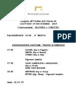 Convocazioni Hansel E Gretel