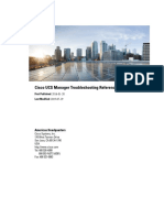 Cisco UCS Manager Troubleshooting Reference Guide