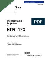 Thermodynamic Properties of HCFC-123