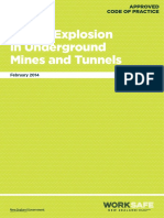 WKS 1 Excavations ACOP Fire Explosions in Underground Mines Tunnels