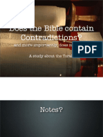 2 - Contradictions in scripture and sinning