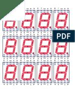 plantilla display 7 segmentos
