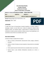 Plano analitico Teorias de desenvolvimento Comunitario
