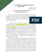 Letramento - Projeto Tematico Letramento Do Professor