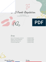 Food Regulation - GMO Foods - Kelompok 5