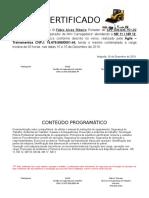 Certificado BoCat Fábio Alves