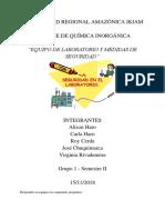 Química Inorgánica_Equipo de Laboratorio y Normas de Seguridad