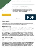 Arithmetic Logic Unit (ALU)_ Definition, Design