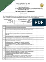 Modelo de encuesta para investigación cuantitativa