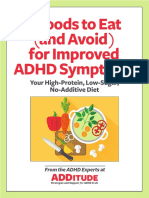 foods ot avoid for improved ADHD symtoms