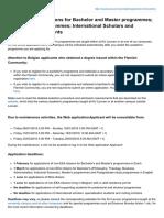 KU LEUVEN - Application Instructions