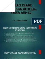 INDIA'S TRADE RELATIONS WITH US, CHINA AND