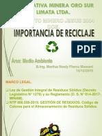 Importancia de Reciclar..