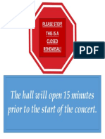 Concert Sign Template - Enter Hall Sign