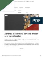Como Criar Uma Carteira Bitcoin Online Em Segundos - Tech Start XYZ