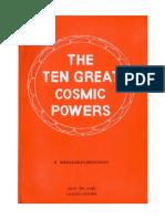 Ten Great Cosmic Powers (Tantra) Shankaranarayanan S. Samata Books 2002