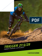 Cannondale Trigger Owner's Manual Supplement