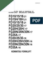 MANUAL DE TALLER FORK LIFT KOMATSU FG25T