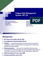 Fatigue Risk Management System RP 755Steve Lerman ExxonMobil