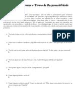 Ficha de Anamnese e Termo de Resbponsabilidade