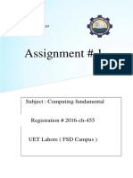 computing assignment
